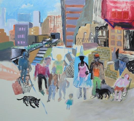 SATURDAY 2015  90x100cms Acrylic on canvas